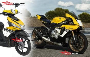 modifikasi mio m3 warna kuning  tahun ini