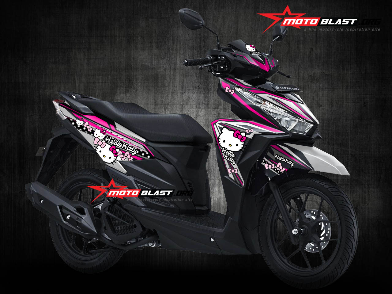 Download Koleksi Modifikasi Motor Vario Hello Kitty Terlengkap
