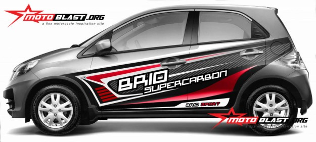 HONDA BRIO SILVER-SUPERCARBON1