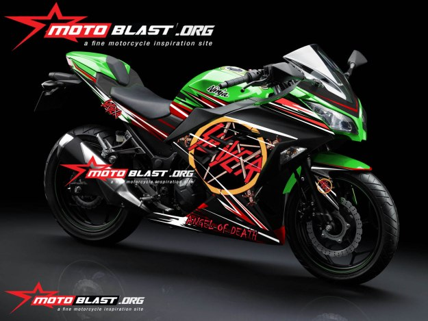 NINJA 250R FI GREEN SLAYER