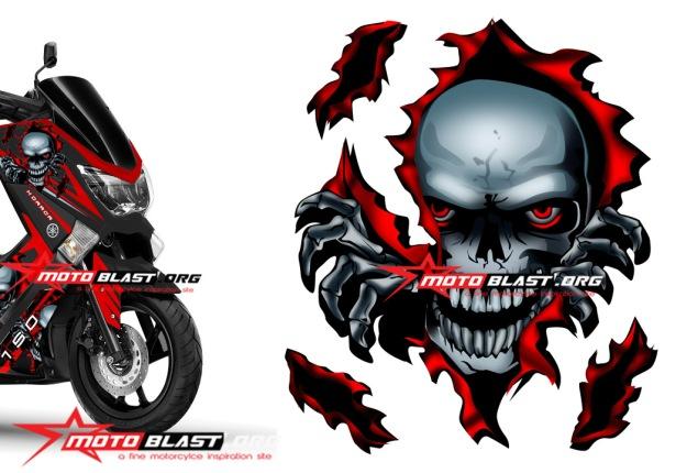 NMAX BLACK skull1