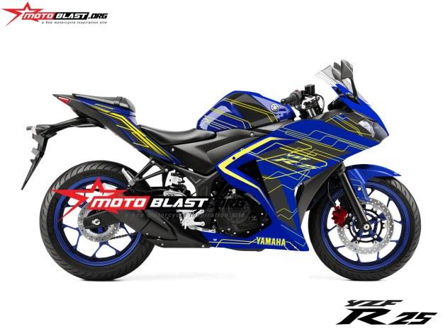 yamaha R25-TECHNO-BLUE-yellow