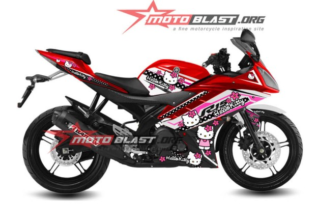 Modifikasi Yamaha R15 RED Hellokitty