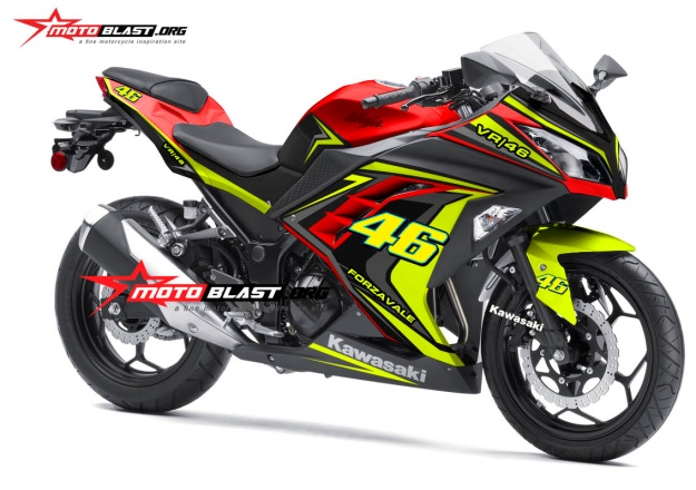 modifikasi kawasaki ninja 250r fi RED VR46