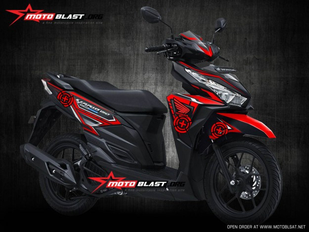 Modifikasi Honda Vario 150Esp Black Thunder