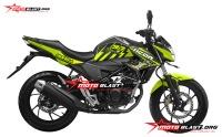 modifikasi striping honda new cb150r black green lemon thunder ICON motoblast