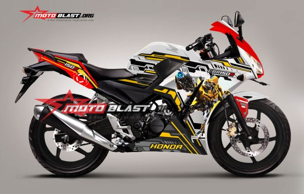 cbr150r indonesia tricolor bumble bee