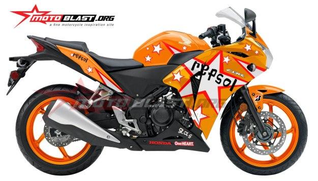 Modifikasi Honda CBR250R Repsol