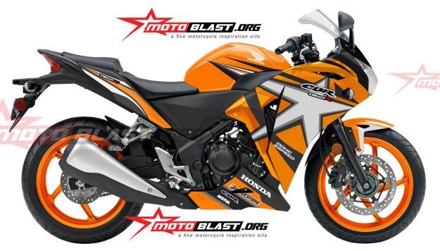 modifikasi honda cbr250r star orange jos