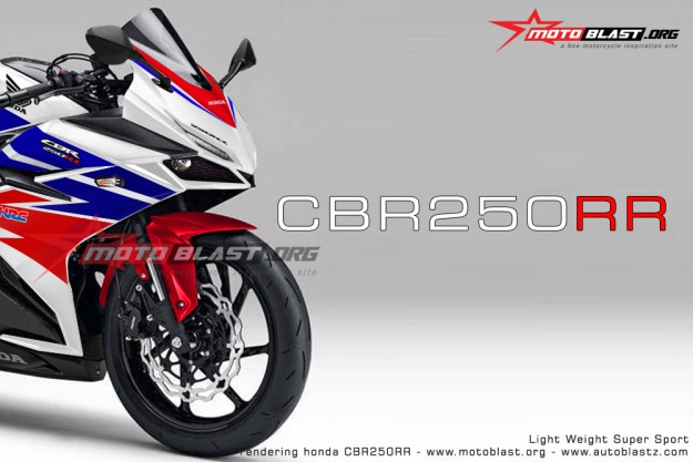 rendering next cbr250rr masspro 2016 livery Red White Blue by motoblast