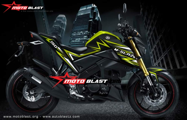 Modifikasi Yamaha M-slaz Yellow thunder