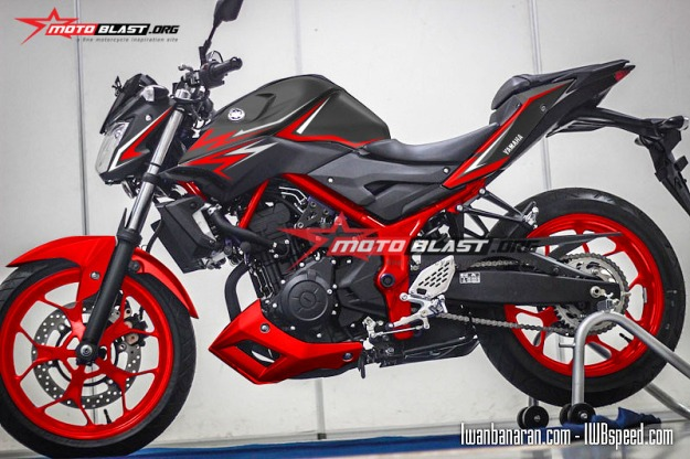 Modifikasi Striping Yamaha MT25 RED Thunder