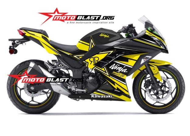 Ninja 250R Fi black rockstar