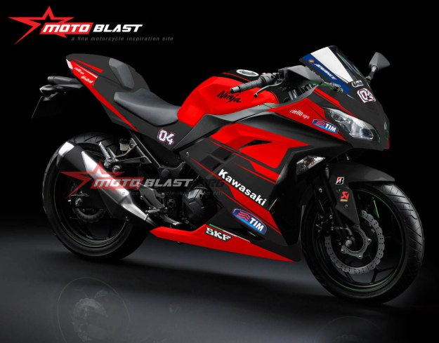 NINJA 250R FI red- DUCATI DESMO GP 15-BLACK2