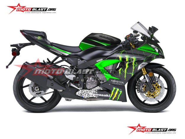ninja 636-BLACK MONSTER