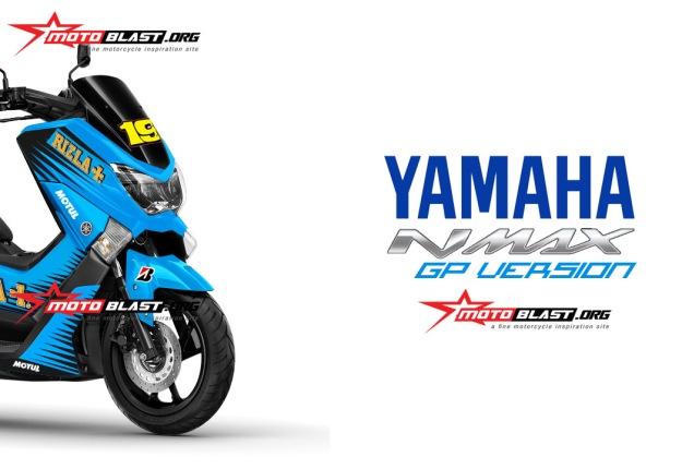 NMAX BLUE RIZLA+ Suzuki Motogp Livery