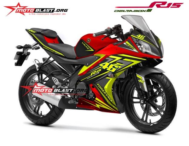 Modifikasi Yamaha R15 RED Forzavale