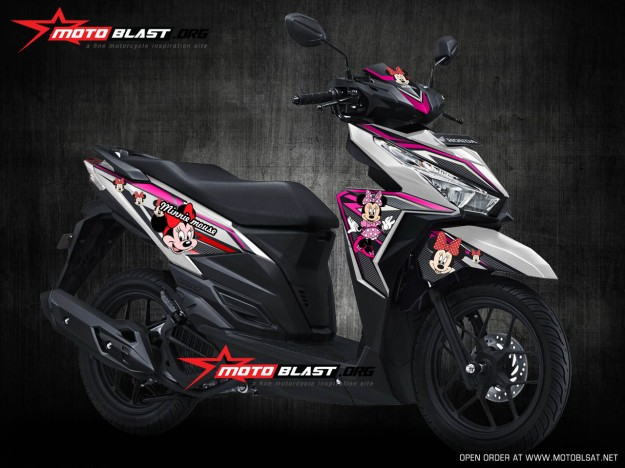 VARIO 150 WHITE MINNIE MOUSE1
