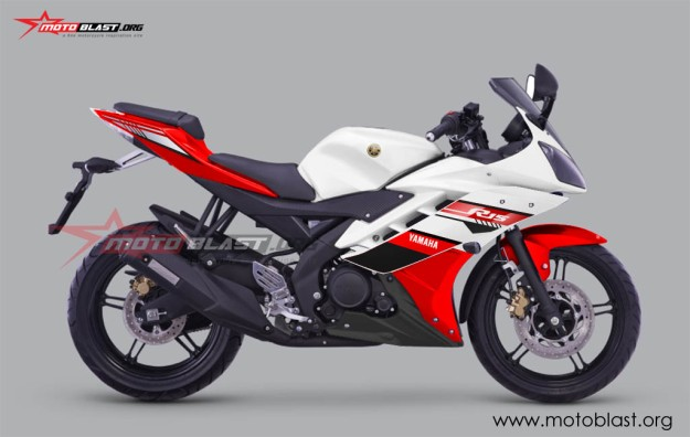 YZF R15 FACELIFT 2016-RED WHITE