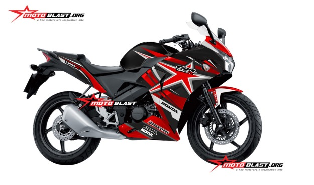 Modifikasi  CBR 150R THAI BLACK RED STAR