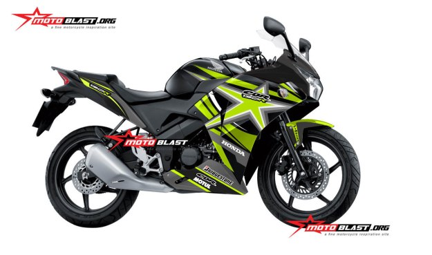 modifikasi honda cbr150r thailand black green star