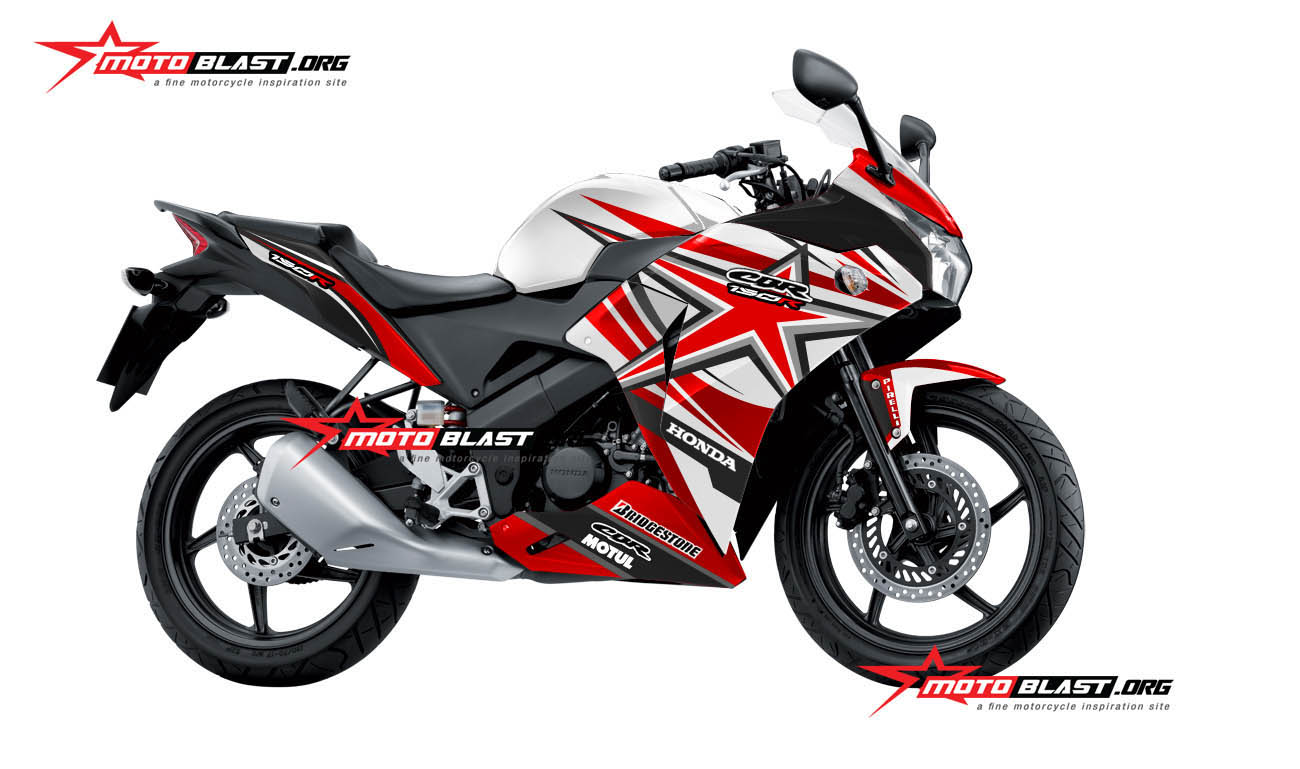 Modifikasi Honda CBR150R Thailand RWB Striping RED Star! Monyor tenan