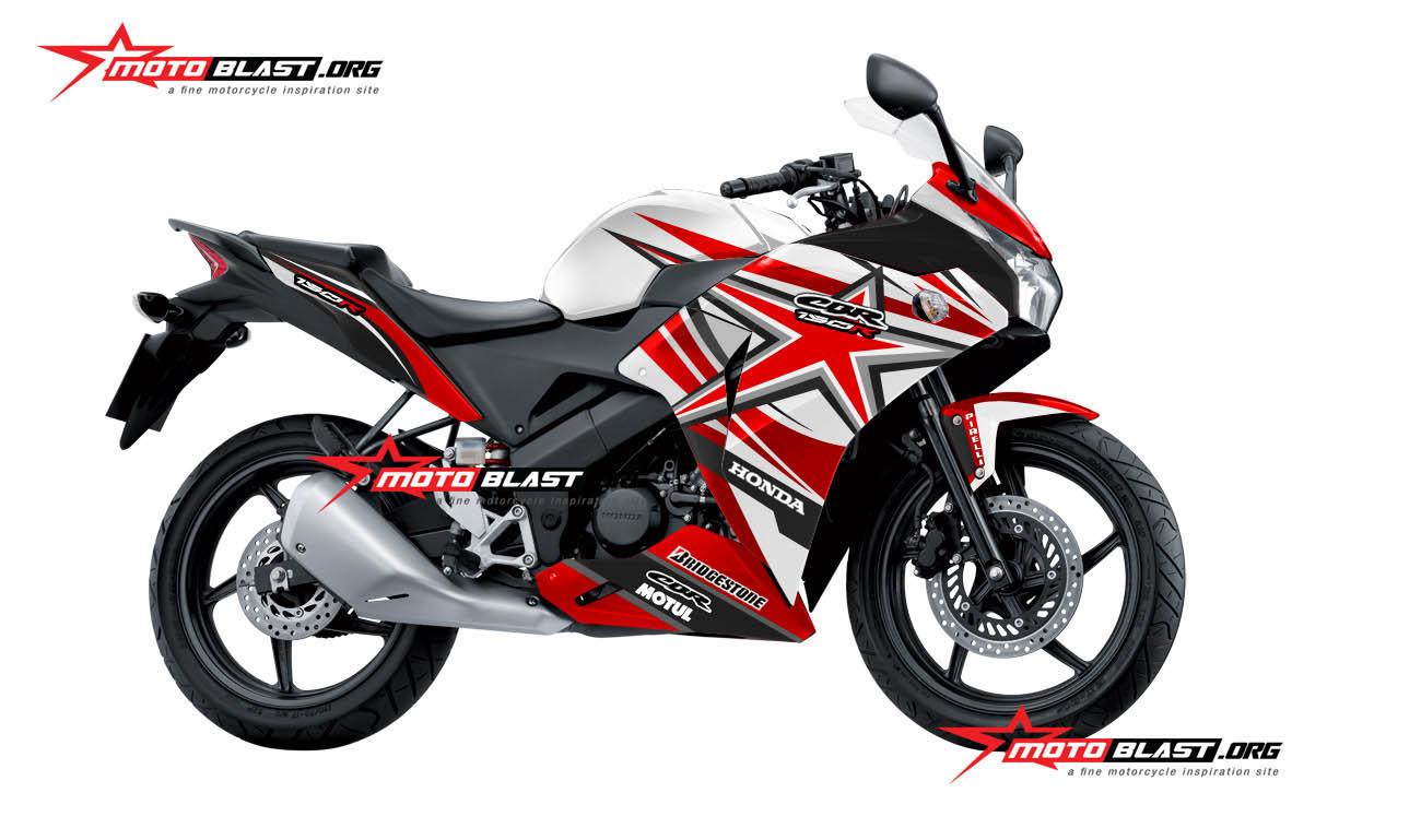 Modifikasi Honda CBR150R Thailand RWB Striping RED Star! Monyor tenan