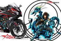 Modifikasi NINJA 250R FI BLACK SHIRYU SAIN SEIYA
