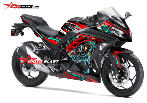 modifikasi ninja 250rfi black shiryu dragon seint seiya