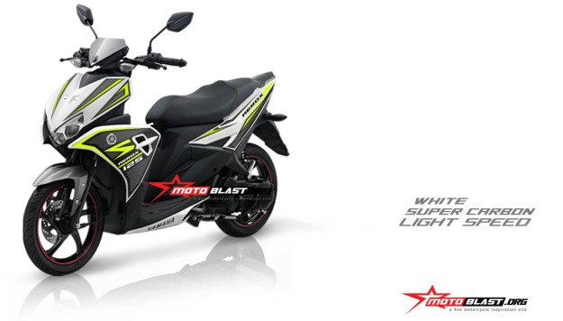 Modifikasi AEROX 125 PUTIH-SUPER CARBON GREEN LIME