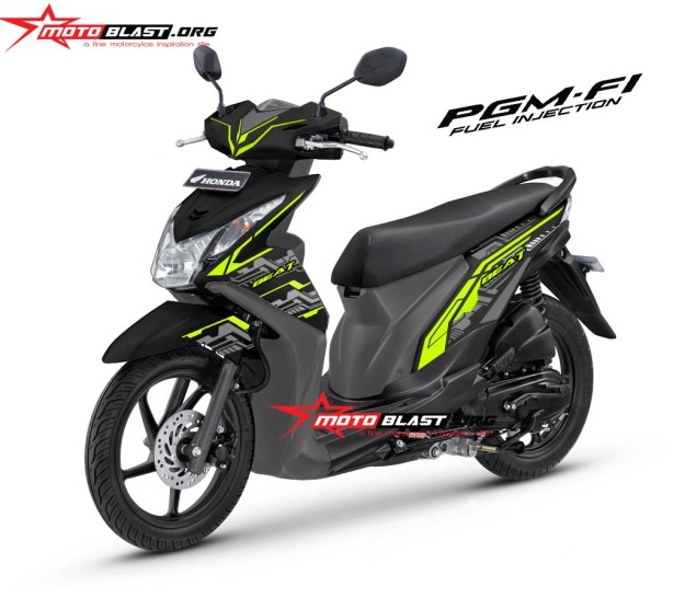modifikasi honda beat FI black HITECH3