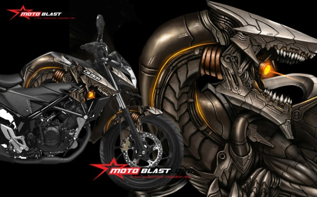 MODIFIKASI CB150RBLACK DRAGON1