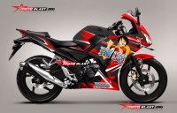 MODIFIKASI HONDA CBR150R BLACK ONE PIECE