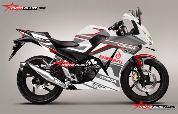 modifikasi Honda cbr150r white alstare