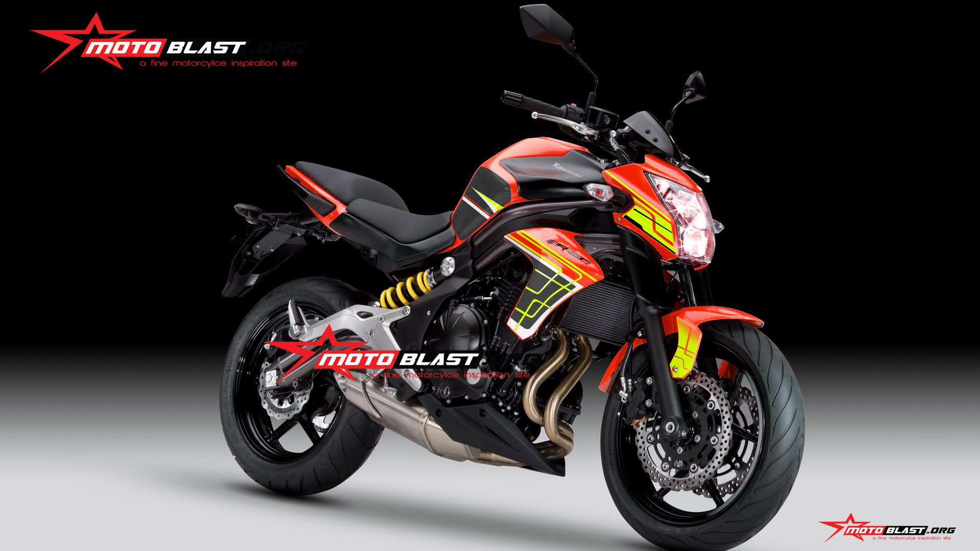 moge series modifikasi kawasaki er6n red motoblast. Black Bedroom Furniture Sets. Home Design Ideas