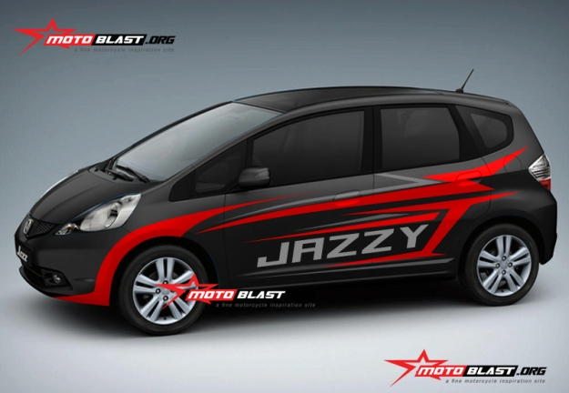 Modifikasi Honda Jazz Black
