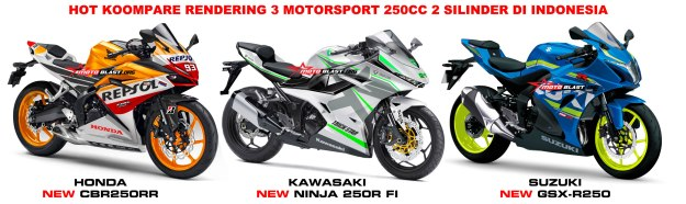 HOT KOMPARE MOTORSPORT 250CC 2 silinder CBR250RR, NEW NINJA 250R, GSX-R250