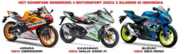 HOT KOMPARE MOTORSPORT 250CC 2 silinder CBR250RR, NEW NINJA 250R, GSX-R250