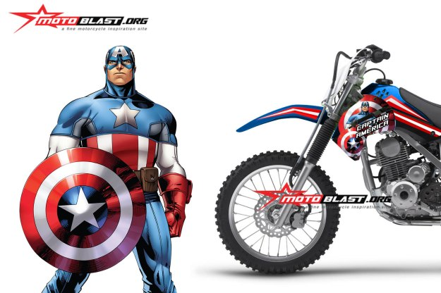 KLX 150-CAPTAIN AMERICA2