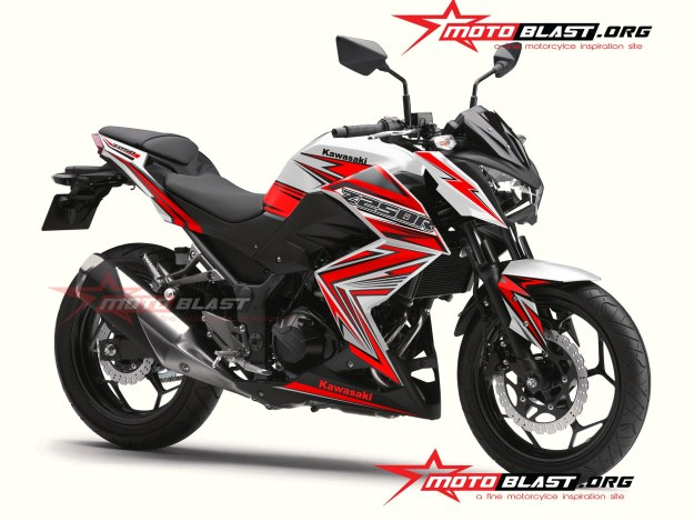 modifikasi STRIPING-Z250R--WHITE RED