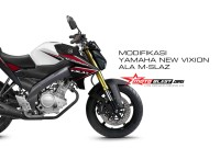 modifikasi NEW VIXION ala M-SLAZ
