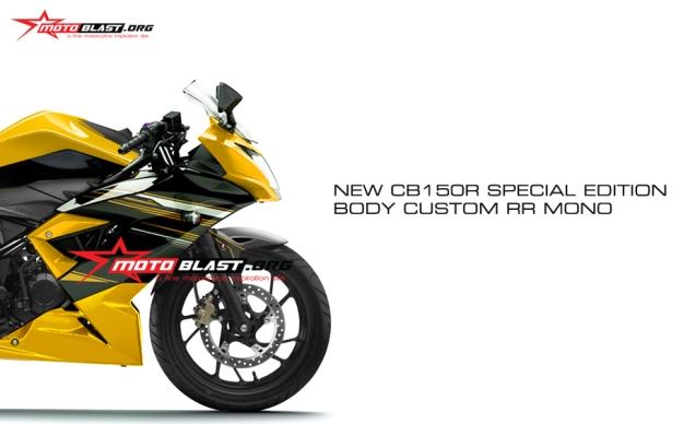 NEW CB150R body custom fairing n buntut RR mono2