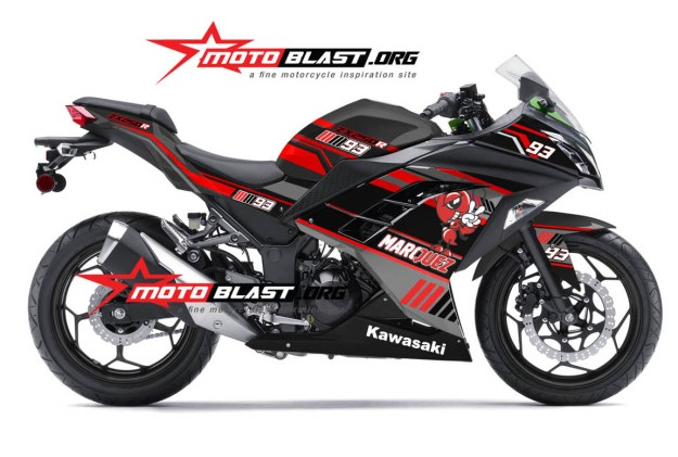 MODIFIKASI ninja 250 BLACK MM93