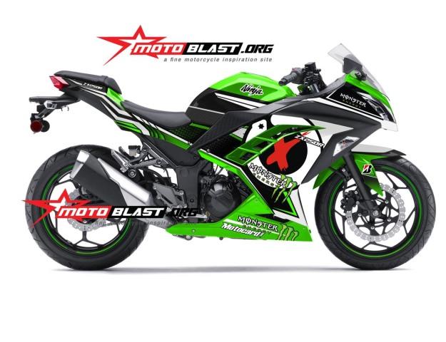 modifikasi ninja 250 GREEN JORGE LORENZO2b
