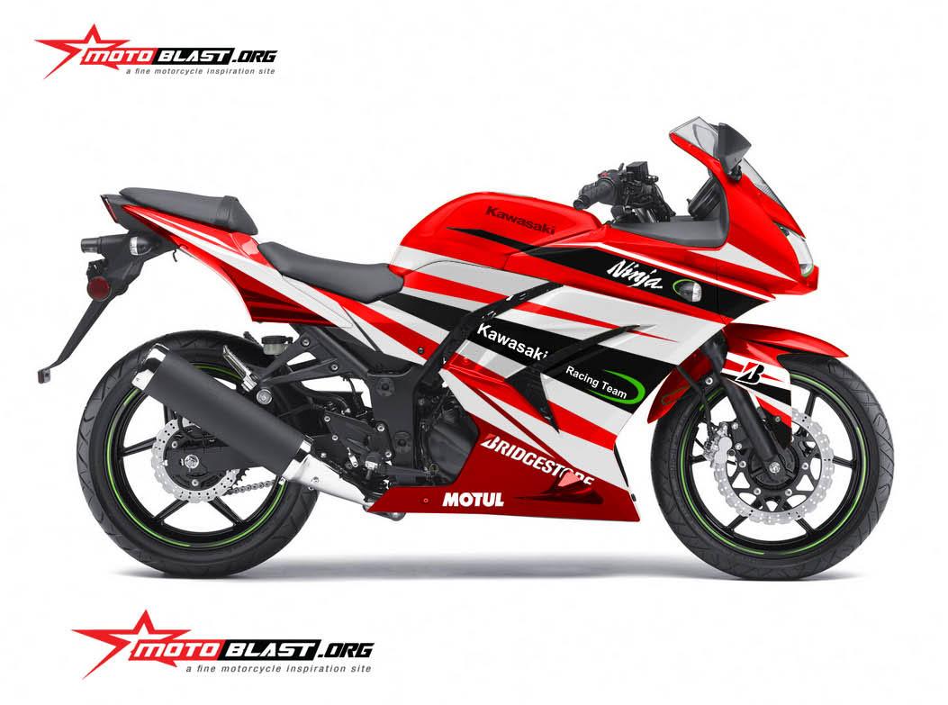 Modifikasi Ninja 250r Karbu Red Sporty