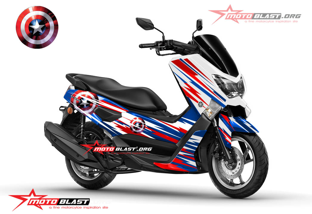 Modifikasi NMAX CAPTAIN AMERICA MOTOBLAST