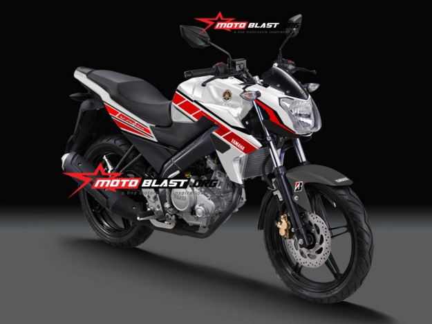 Modifikasi New Vixion 60TH ANNIVERSARY WHITE RED