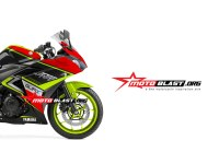 Modifikasi motor yamaha R25 stiker Speed Master
