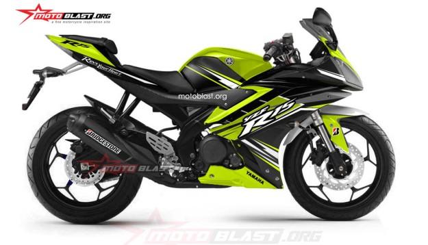 yamaha R15 BLACK GREEN LME2