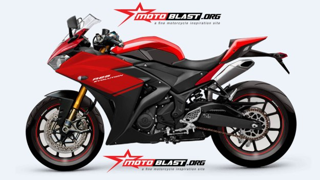 YAMAHA R25 RED- evolution-2